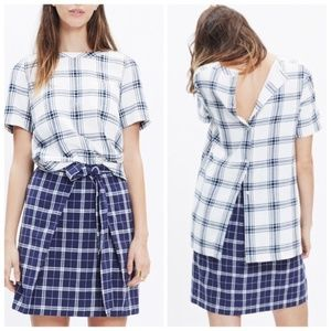 Madewell Industry Button Back Plaid Top